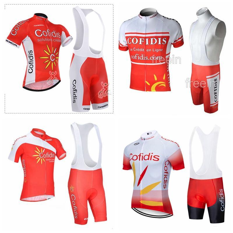 COFIDIS team Pro Cycling Short Sleeves jersey bib shorts sets mens bicycle clothing uniform MTB Racing clothing Ropa Ciclismo 102307