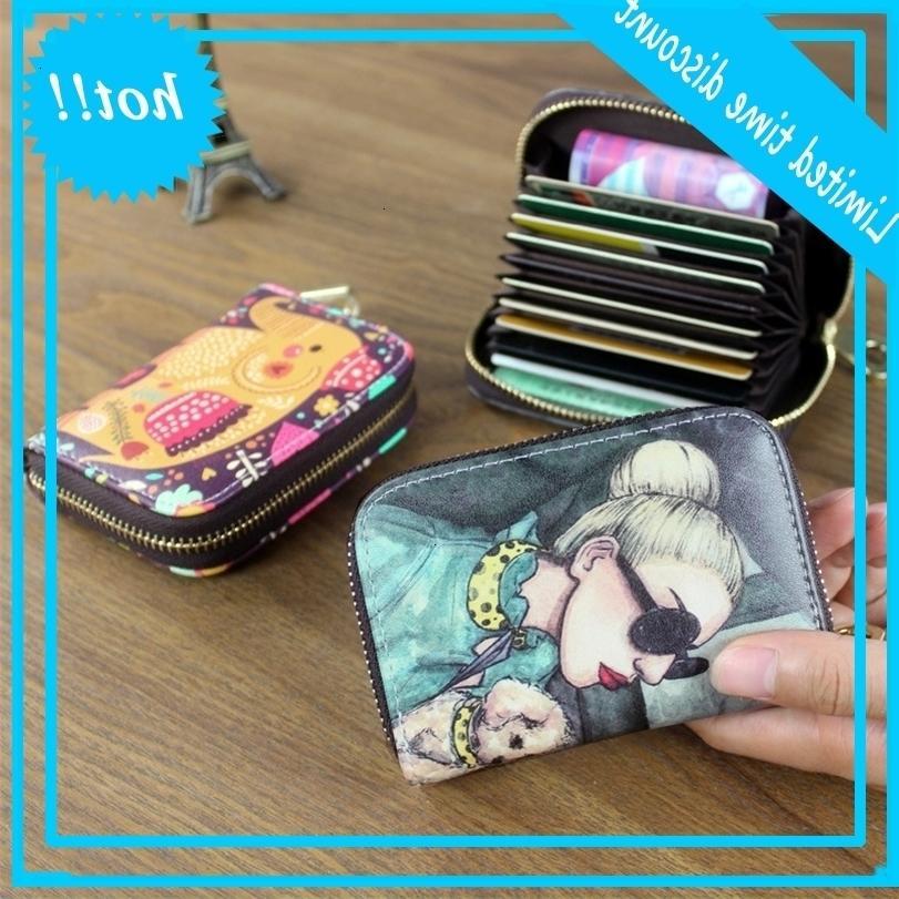 Frauenhalter Brieftasche PU Lernen Sie weibliche Kartenkoffer 9 Bits / 10 Bits + 2 Grand Position
