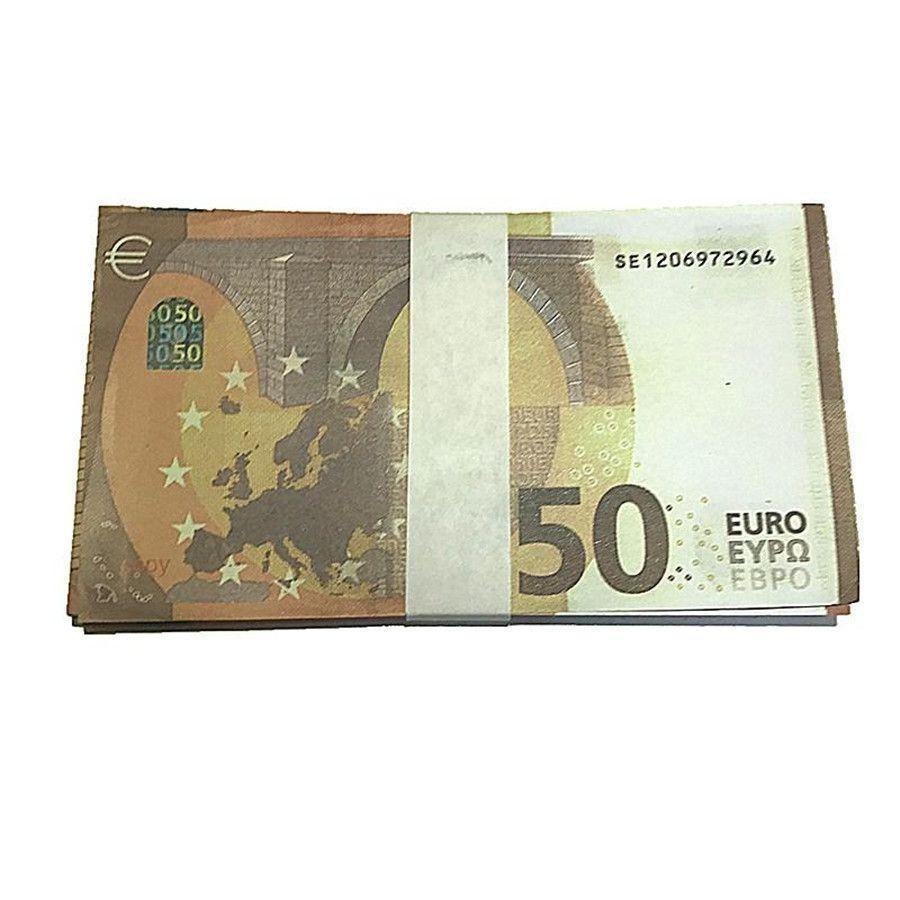 100 pz / pack EUR EUR Falso valuta valuta 20 100 Euro Bra Prop Movie Money Faux Billet Play Dollari contraffatti Euro J10