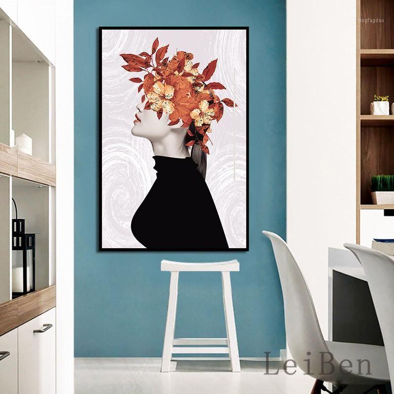 Картины Nordic минималистский стиль абстрактный литературный женский плакат стена искусства декоративная живопись для гостиной домашний фон декор1