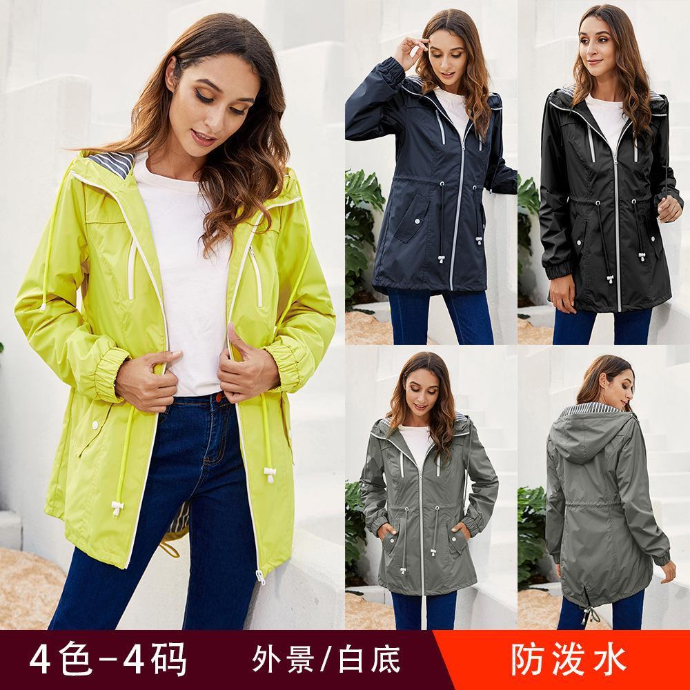 Capuche à glissière légère 2021 imperméable veste à l'extérieur imperméable le nouveau nouvel EWPV femelle IXUFS