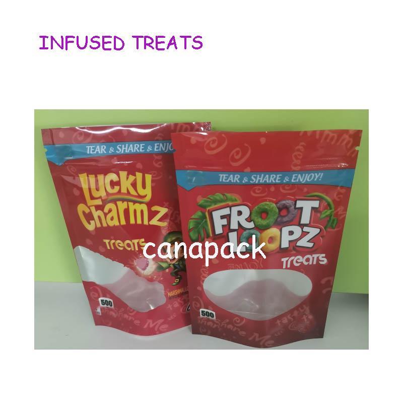 500 mg Embalaje de Embalaje Infundido Treats Caramel Treats Apple Jackz Medicatd Candy Lucky Charmz Treats Treats Ecomes Candy Gummy Edibles