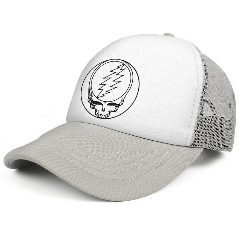 Grateful dead skull logo Fashion Trucker Cap Adjustable Baseball Hat rainbow Grateful 71 psychedelic jerry garcia