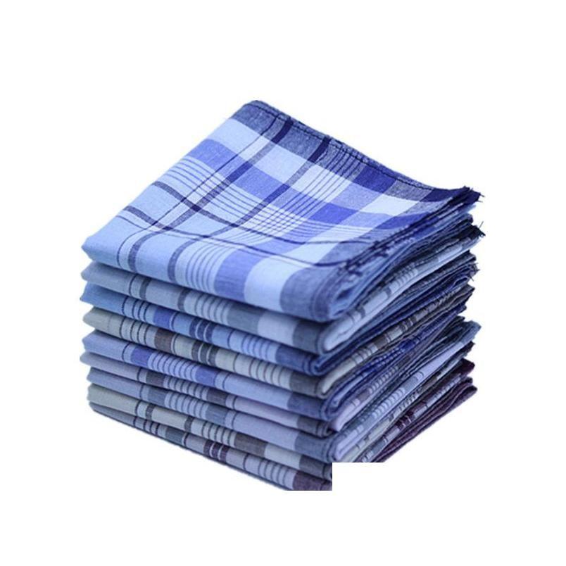 Stripe Women Plaid Business Bufandas Cuadradas Hankies Handkerchief Casual Algodón Hombres Pocket Homme 38 * 38cm Mouchoir Traje GXJWG EOAQ