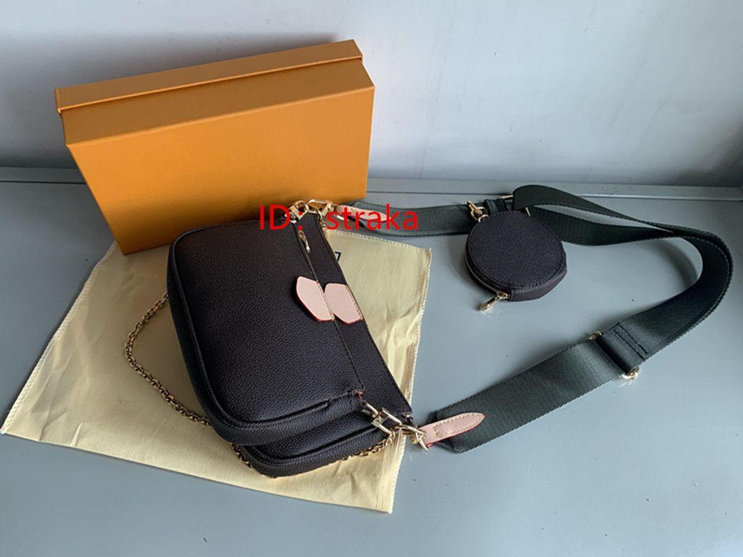 2020 Frauen Handtasche Messenger Umhängetaschen Kette Tasche Gute Qualität Leder Geldbörsen Damen Tasche 3 UniDs / Set