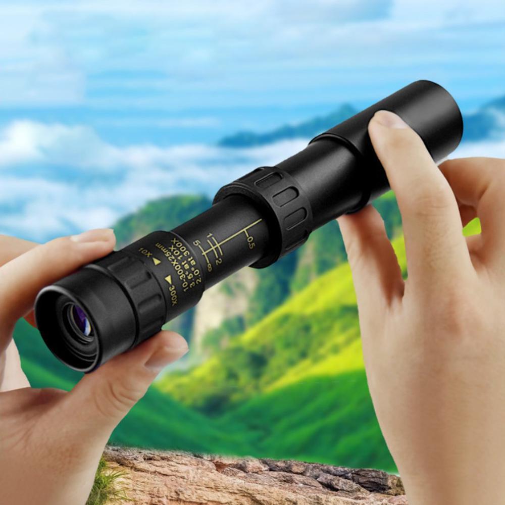 10-300x Мощный Монокуляр телескоп 3000M Бинокль Low Light ночного видения окуляр для дикой охоты Кемпинг Trav