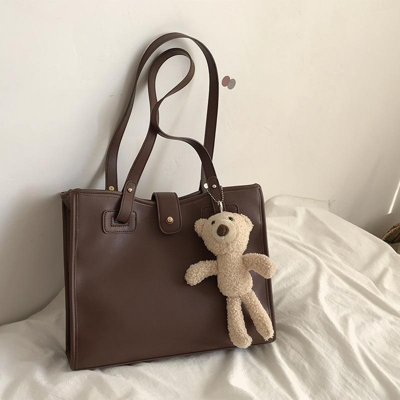 Bolsa de ombro de tote grande capacidade coreana para mulheres 2021 marca de couro senhora saco crossbody moda bolsas de desenhista de luxo bolsas