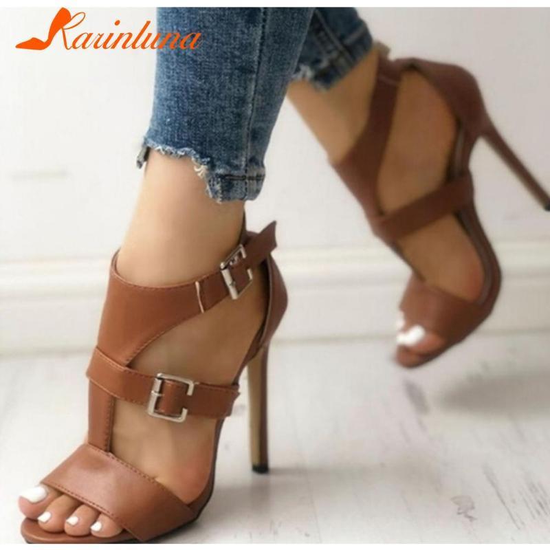 Karin neue mode weibliche dünne high heels sandalen fest mit knalle sandalen frauen 2021 sommer party sexy schuhe frau
