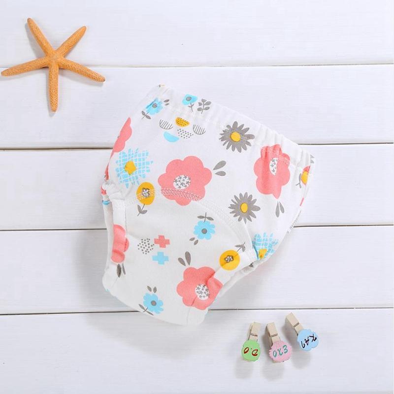 Pañales de bebé Pantías de entrenamiento de algodón Pantalones para bebés recién nacidos impermeables Pantalones para bebés lavables Ropa interior Reutilizable Pañal Nappies Nappy Cambiando BT5635