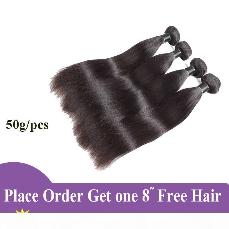 Extension des cheveux brésiliens droite brésilien vierge cheveux tissé Bundles 3 4 5 PCS Remy Double Taft Double Than Anysian Human Hair Bundles 50g PCS