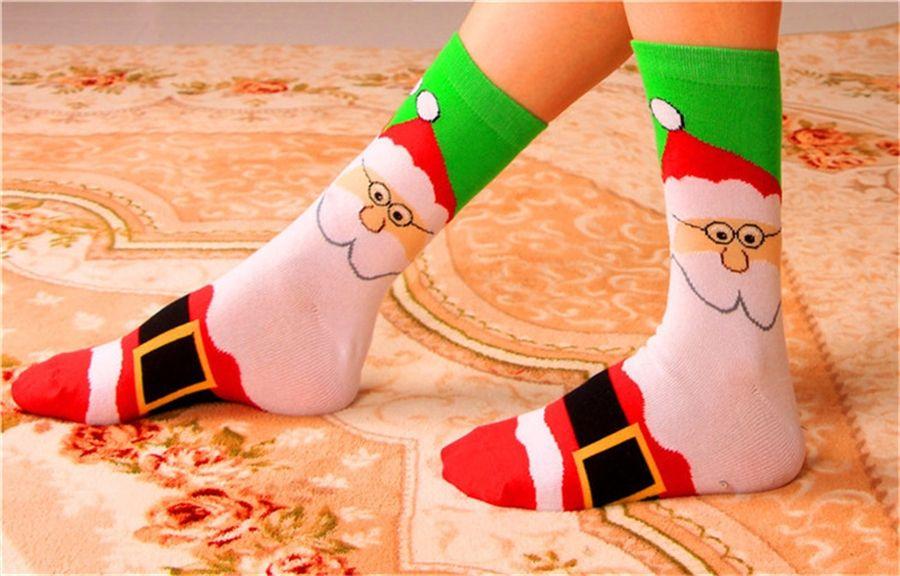 Medias de Navidad Decoración de Navidad Árboles de Navidad Ornamento Decoraciones de fiesta Santa Navidad Candy Socks Bags Bolsa de regalos de Navidad EWF3005 # 716