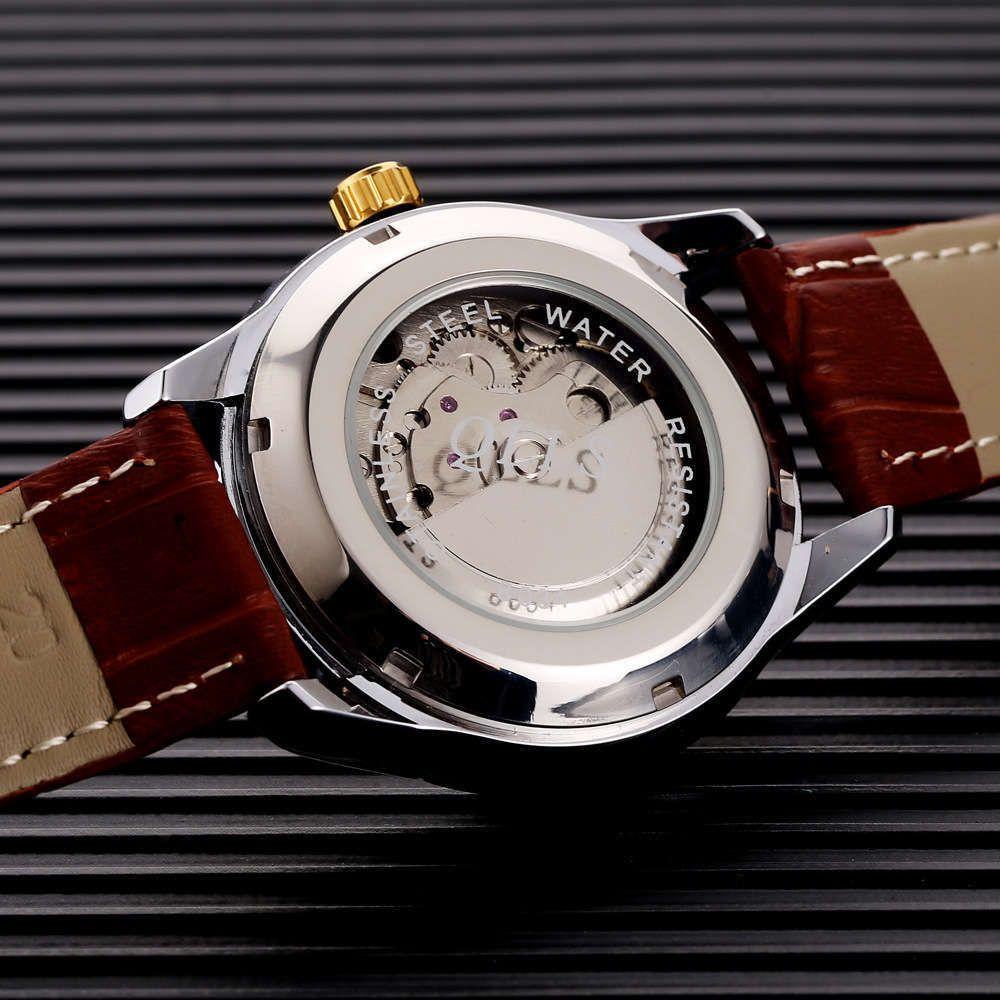 Mire a prueba de agua Reloj mecánico luminoso Reloj hombre para hombre Qiluo Steel Strip Fashion Batch
