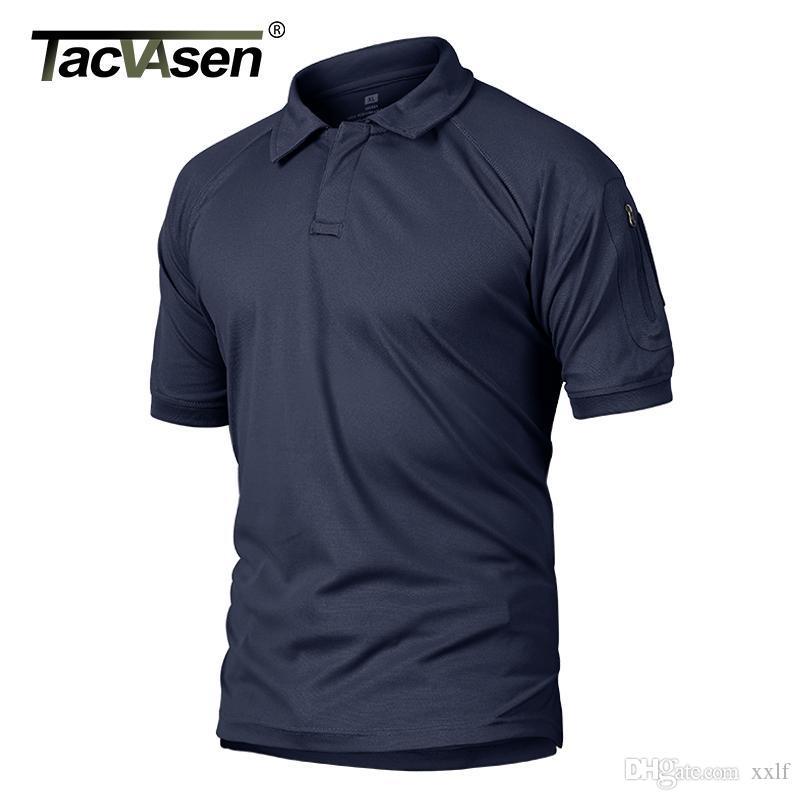T-shirt da uomo Tacvasen T-shirt da uomo T-shirt tattica T-shirt tattica Quick Dry Leggero Amby Combat Performance T-shirt