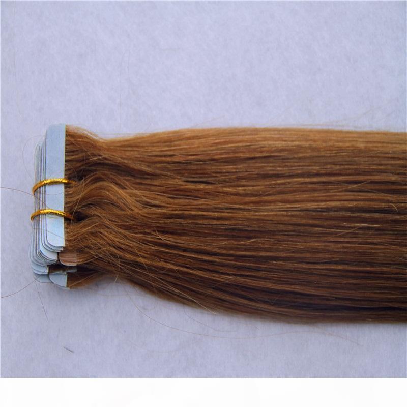 Cinta brasileña en extensiones de cabello humano 40pcs rectos 100ps 100 g 100% Remy Pein Piel SHOTT 8-34 pulgadas