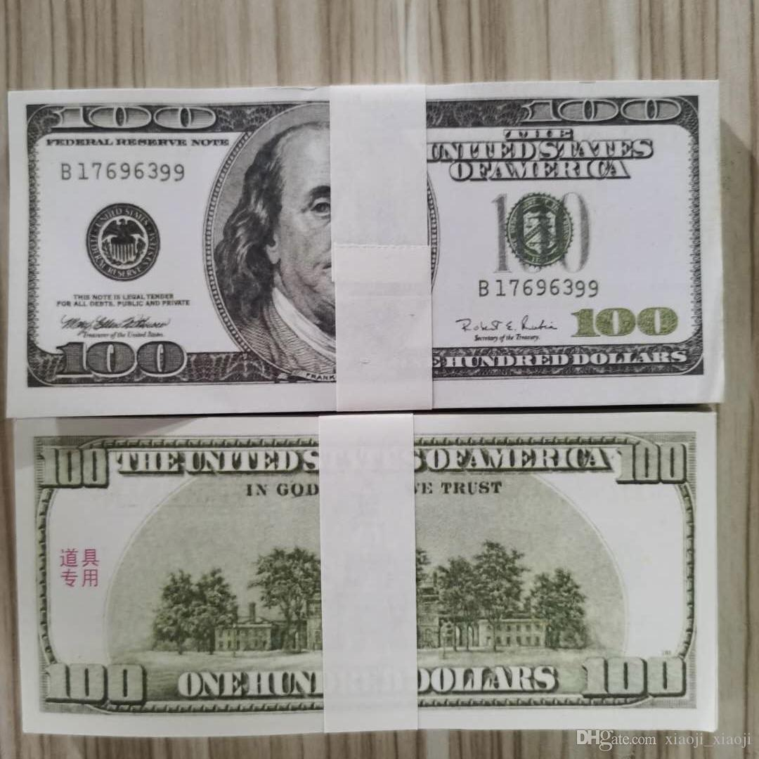 Money Bills Dollar Wholesale Fake 100 Pretend Money Money Copy Paper 01 Old Paper 100pcs/pack For Collection Prop Banknote Wfrvo