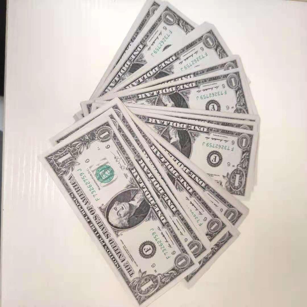 Benzer En Son Satış Çapları Sınırlı Sıcak Stil $ 1 Prop Coin Simüle Dolar Sahte Kağıt Para Oyuncak Film Sahne Counterfei