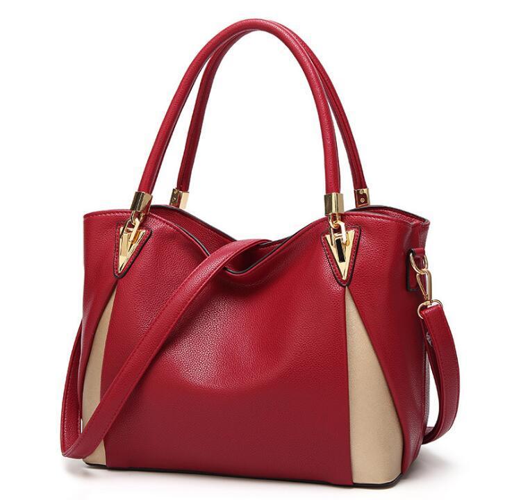 HBP Frauen Umhängetasche Litschi Muster Frau Geldbörse Farbe Matching Weibliche Handtaschen Lady Fashion Tote Mommy Sswy-1854 #