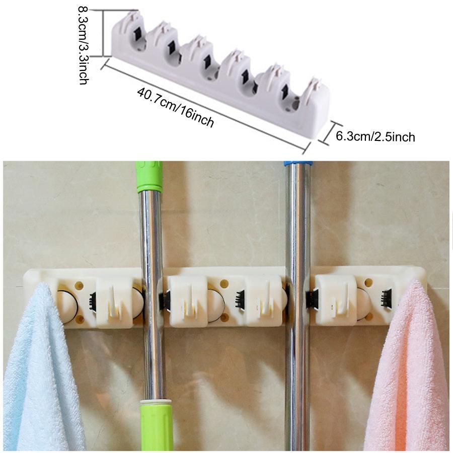 الجملة المنزلية ممسحة فرشاة شماعات متعددة الوظائف مطبخ المنظم ممسحة حامل رف أدوات المطبخ فرشاة بروم أدوات التخزين DHD3385