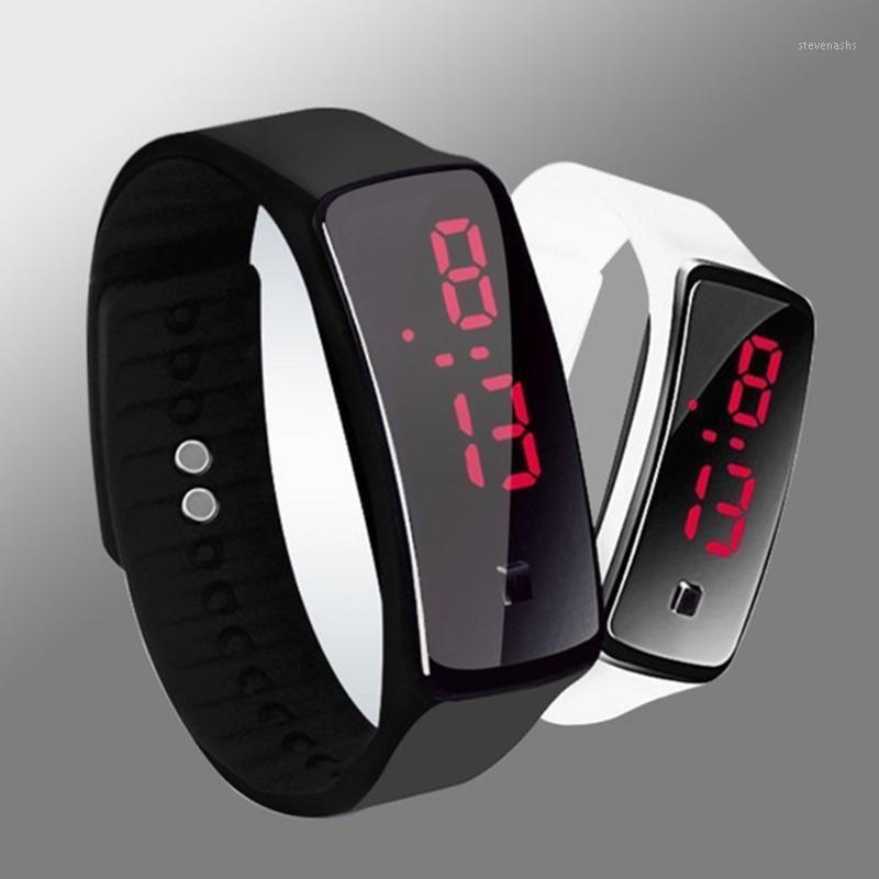 Armbanduhren Süßigkeiten Farbe Silikongummi LED Digital Armband Sportuhr casual unisex1