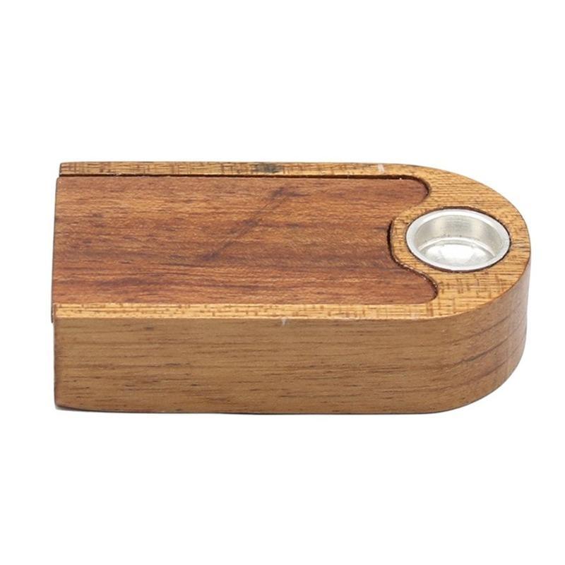 Pipes Portable Mini Massivholzrohr mit Zigarettenhalter mit Lagerung Doppelschicht Manuelle Falten Holzkleiner Pfeife