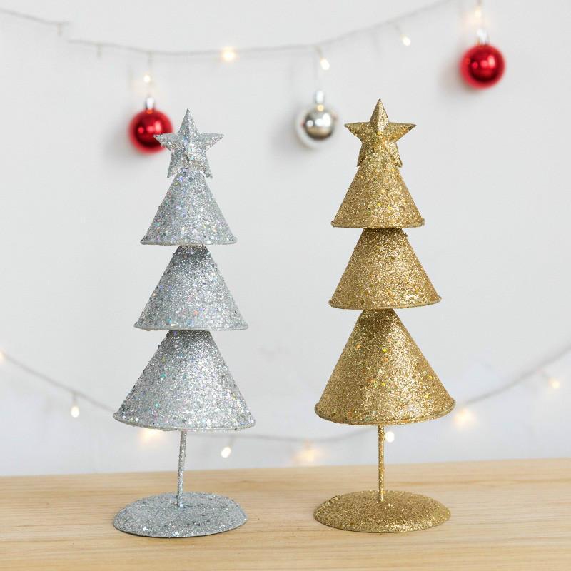 Рождественские украшения блестящие золотые серебряные железа украшения для дома детская комната вечеринка поставляет рождественский подарок