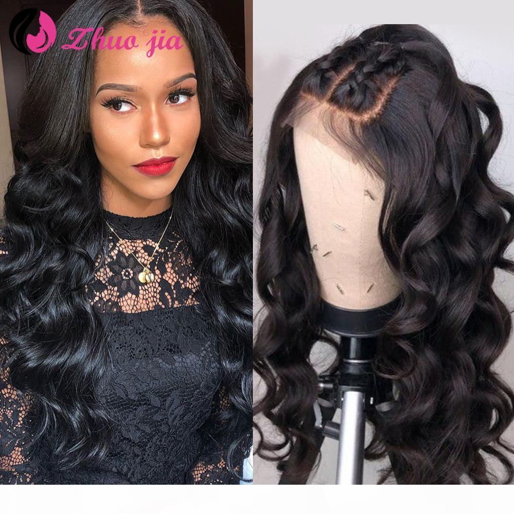 JIA свободная глубокая волна парик 13x4 кружева фронт человеческих волос парики для женщин 13x6 бразильские парики волос предварительно сорванный 360 кружевной фронтальный парик