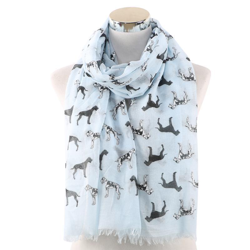 Lusso- 2020 Nuovo Dalmaziano Stampa Sciarpe Scialli Wrap Donne Soft Animal Dog Modello Fringe Sciarpa Sciarpa Hijab 4 Colore Spedizione gratuita
