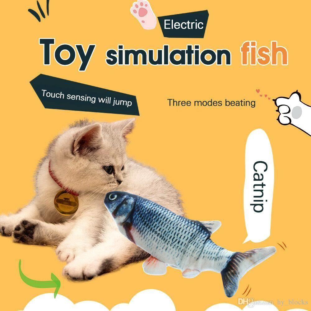 26 cm Kedi Oyuncak USB Şarj Simülasyonu Elektrikli Dans Hareketli Disket Balıklar Kedi Pet Etkileşimli Hediye Oynuyor