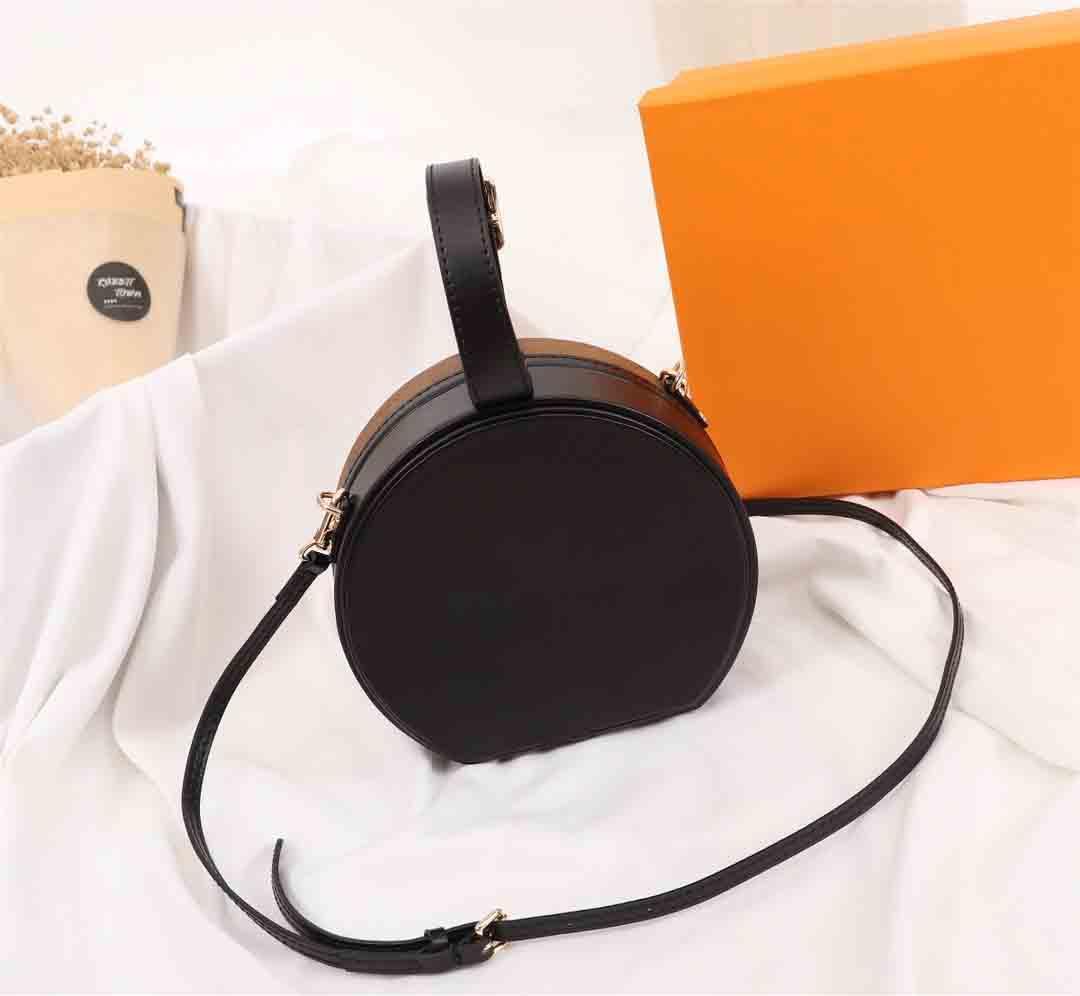 2021 Blumenbrief Handtasche Runde Kuchen Bankett Handtasche Umhängetasche Leder Dame Clutch Messenger Bag Brieftasche