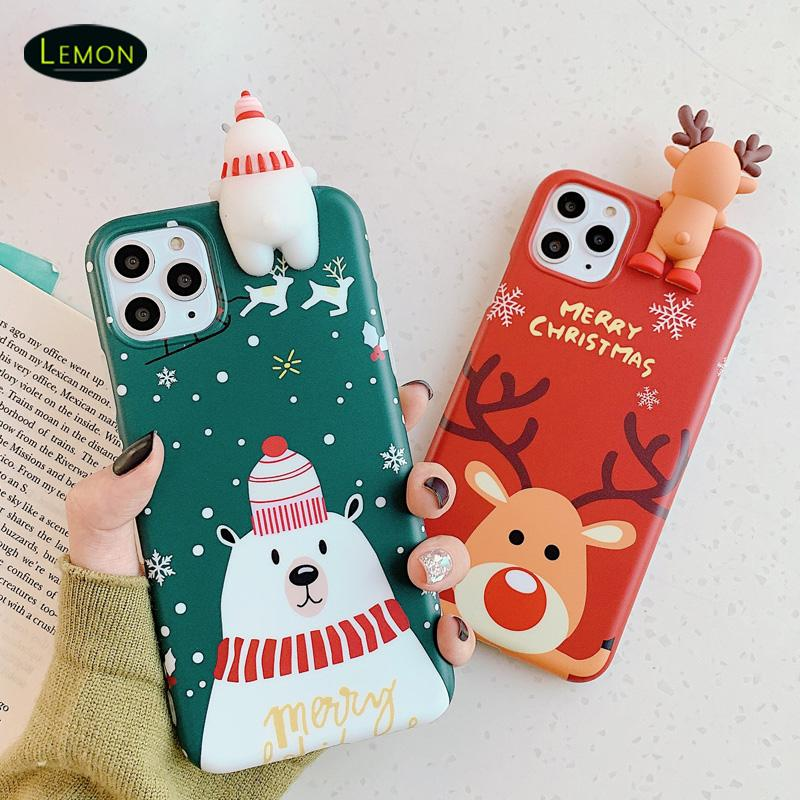 جديد آيفون 12 ميني 11 برو x xs ماكس 8 7 6 زائد حالة الهاتف الخليوي الكرتون مصمم الإبداعية الغطاء الخلفي الفاخرة TPU هدايا عيد الميلاد