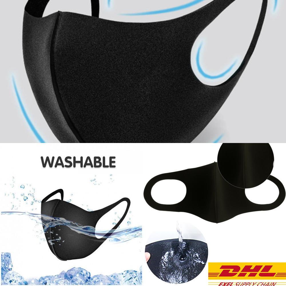 PM2.5 Dépoussiéreur lavable Dust K n Respirateur Masque de visage antibactérien Masque de coton de glace réutilisable pour adultes 95 Designer Face Mask 6B