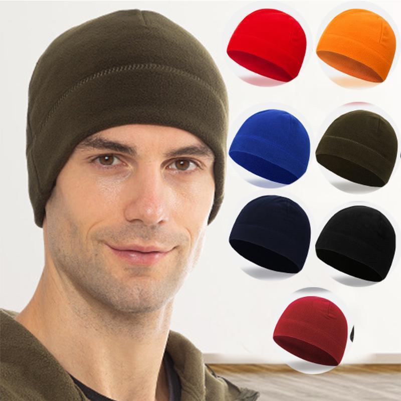 Наружные шляпы зимний унисекс флис ветрозащитный теплый шляпа кемпинг походные крышки рыболовные велосипедные охотничьи тактические шапки