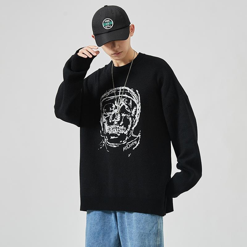 2020 nuovi maglioni da uomo maniche lunghe autunno primavera stampa pullover a maglia o-collo plus oversize 5xl