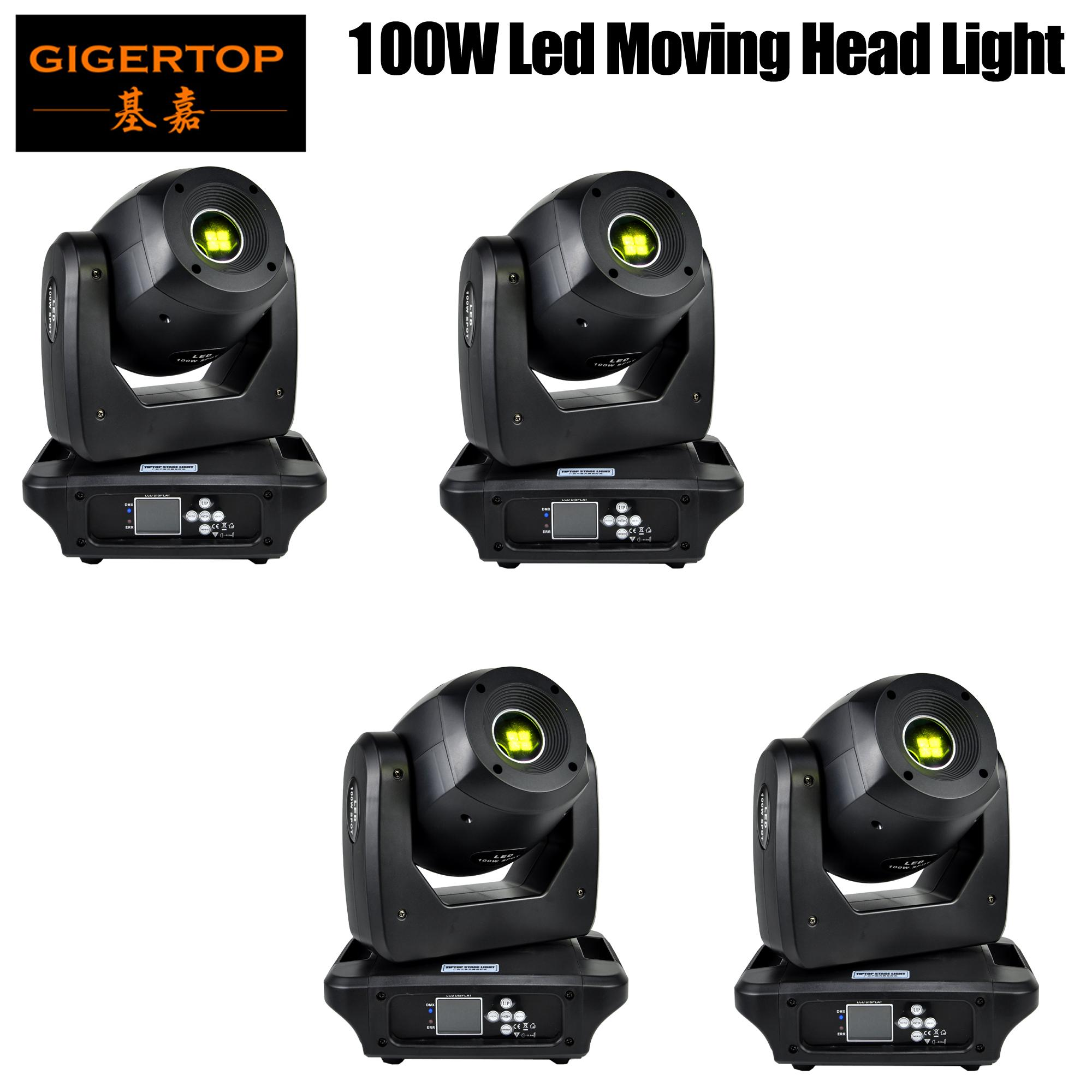 Freeshipping 4 Pack Spot Lyre 100W Gobo LED Lyre Moving Head Light Spot Moving Head Light for Stage Theater Disco Nightclub Party