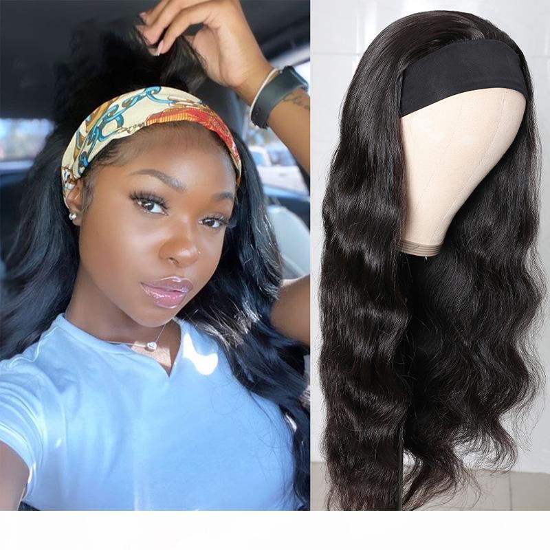 Haarkörperwelle Perücke Menschliches Haar Stirnband Hig Schal Perücke