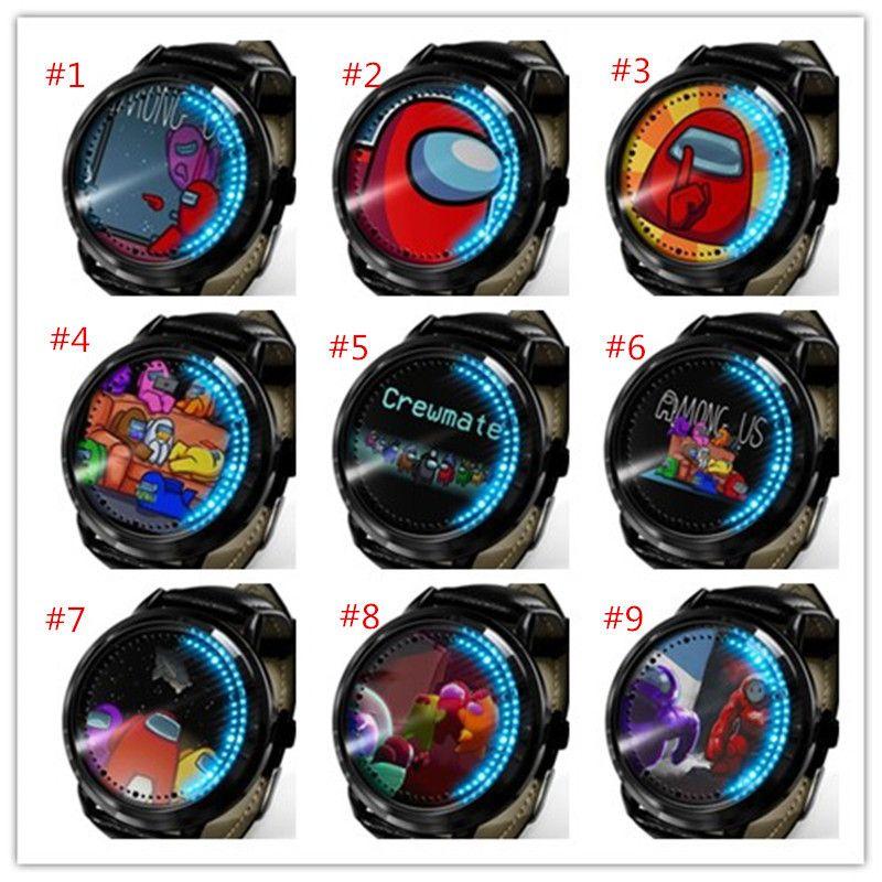 40 ESTILO ENTRE EL JUEGO DE EE. UU. Reloj de dibujos animados Juego de dibujos animados Relojes Unisex Relojes Diseñador Reloj de pulsera Analógica Relojes de pulsera Analógica Pulsera Boutique LED Luz