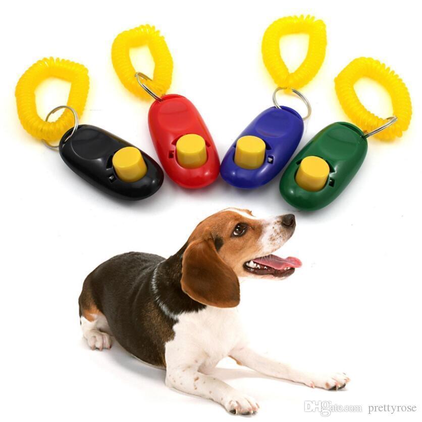 Agility Dog Training Pet Training Clicker Chien Pet Chat Former Sifflements Key-Bracelet Bracelet Anneau Pet Chien Formations Produits Fournitures Cadeau