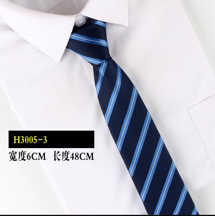 New Stripe Plaid Print 6CM Neck Tie Gentleman Wedding Party Cravats Accessories Elastic New Fashion Male Zipper Tie
