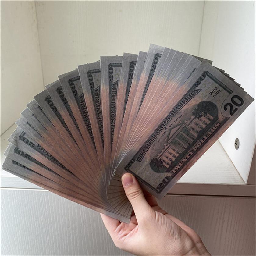 Monnaie 100 Dollar Livraison Papier Papiers Pièces de papier / Monnaie d'emballage American American Props 20-5 Atmosphère Bar accessoires XMVCM IWOLU