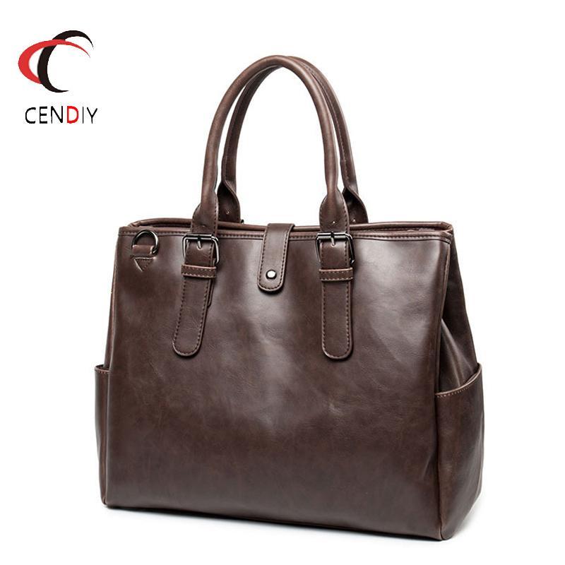 HBPVintage Handbag Briefcase Brand Luxury Messenger for Men Travel Bag Male Business Crazy Horse Leather Shoulder Bags Q0112