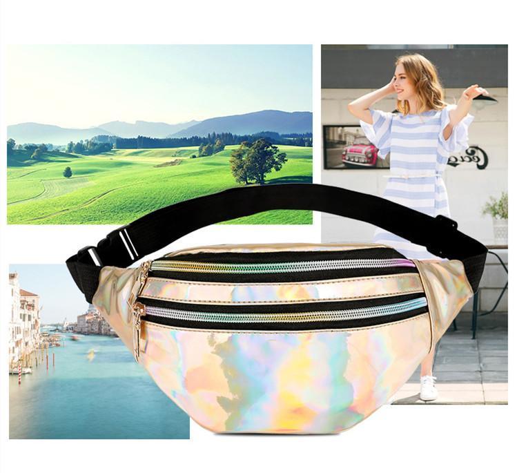 Männer und Frauen neue Laser Taschen Brusttasche Multifunktionsfarbe Einzelner Schulter Slung Sport Outdoor Taschen Fanny Pack