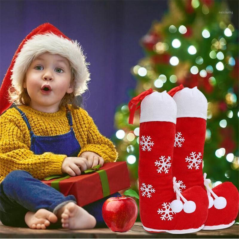 Рождественские украшения Урьк Конфеты Сумки Сумки Снежинки Сапоги Рождественские Фестиваль Детские подарки Держатели для Натурального года Домашняя вечеринка Украшения1