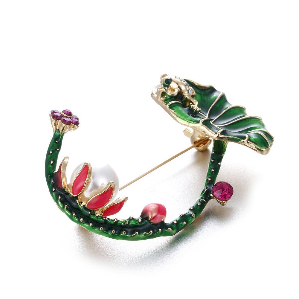 Broche en cristal de broche Broche de diamant en cristaux pour femmes femmes deigneuse bijoux broche costumes costumes avec boîte