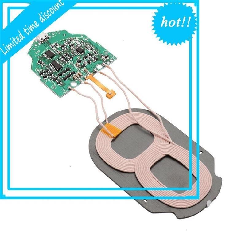 10W QI быстрая зарядное устройство беспроводное зарядное устройство PCBA PRITENT PRETPORE MET DUAL 2 катушки зеленые
