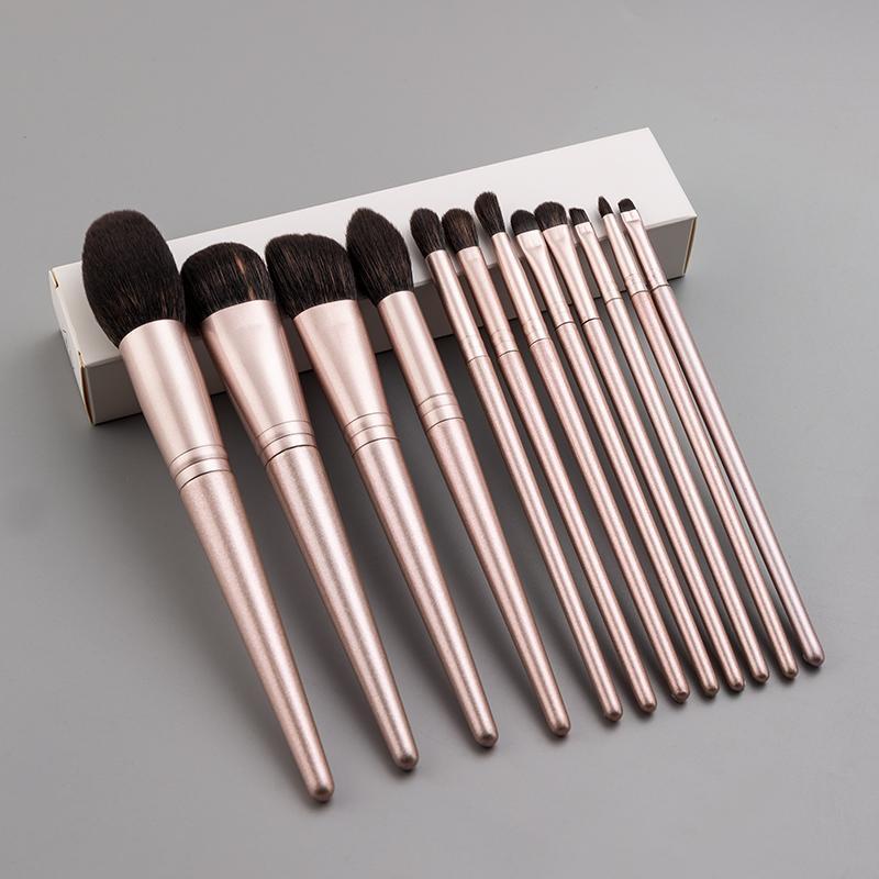 Anmor 4pcs / 8pcs maquillage pinceaux set Poudre professionnelle Foundation Foundation Blush Maquillage Brosse Soft Synthetic Cheveux Contour Pincel