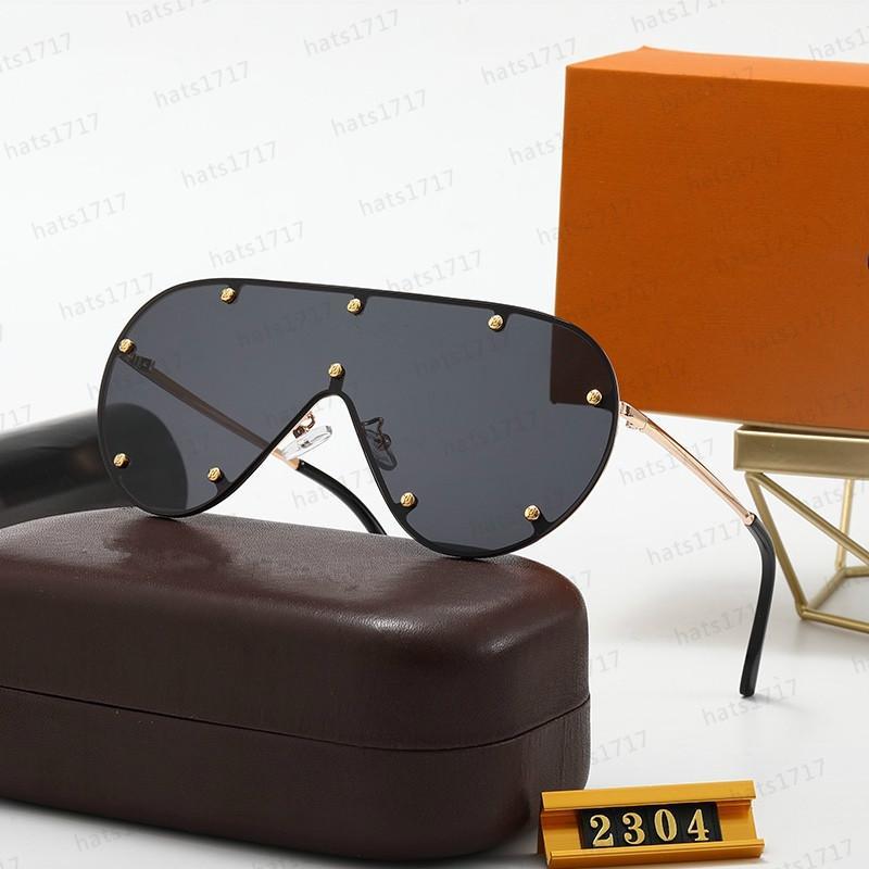 Качество Модель Кадр Популярный объемный объектив Овал 2304 цельные негабаритные солнцезащитные очки Унисексные женские Металлические мода Высокие Мужские Солнцезащитные очки с BWNS
