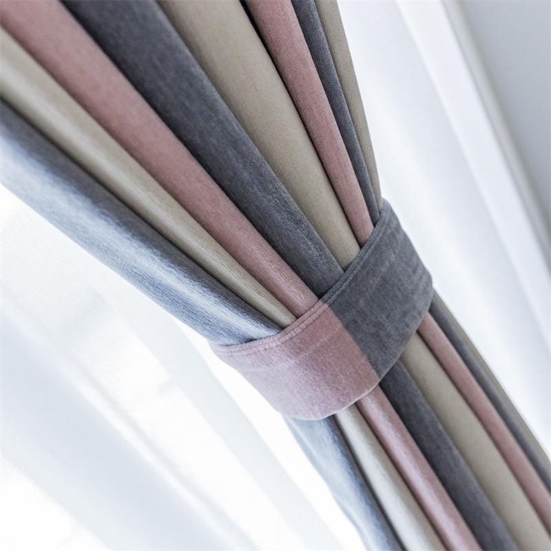 Nordic Light Luxury Chenille Vorhang Tuch Schattierung Modern Einfache Schattierungsschlafzimmer Wohnzimmer Verdickte Vorhänge