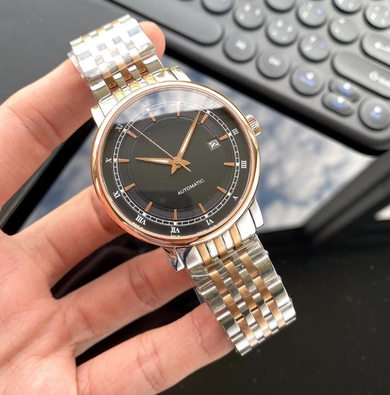 손목 시계 남자 시계 자동 운동 40mm 다이얼 316L 스테인레스 스틸 케이스 스트랩 비즈니스 캐주얼 방수 시계