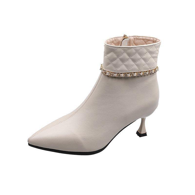 Горячая Продажа-2020 на высоких каблуках новой зимних ботинок плюс бархата заостренных сапог дамы пятки моды темперамент тонких сапог моды
