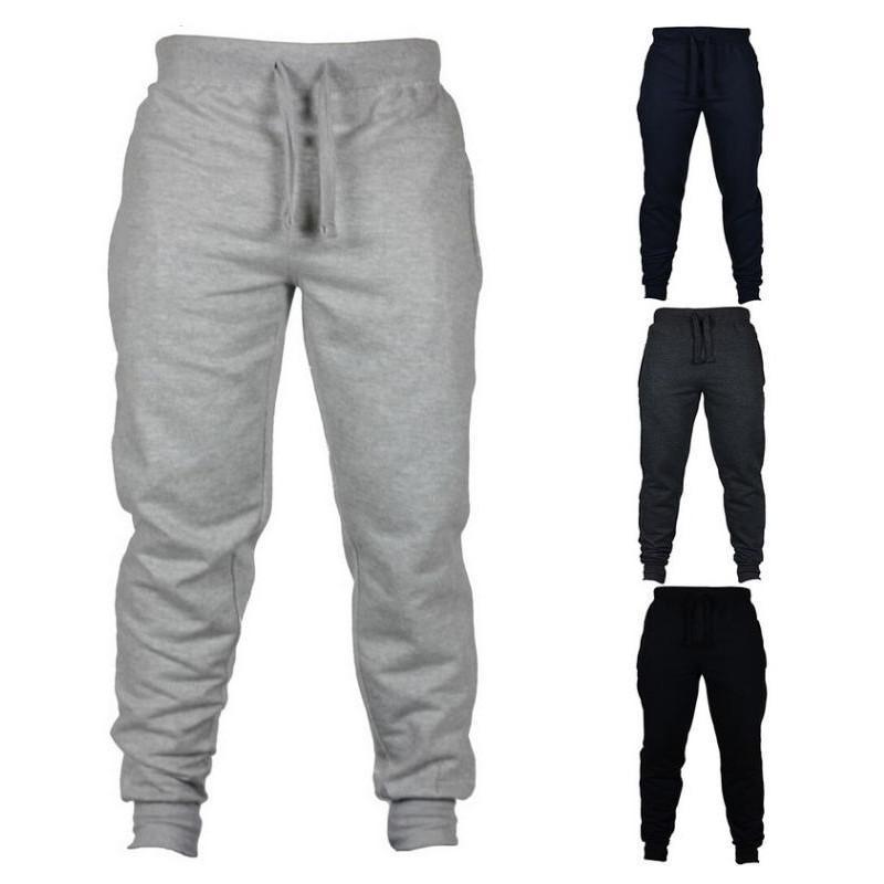 2020 Yeni Sonbahar ve Kış Koleksiyonu Yeni Jogger Pantolon Erkekler 100% Pamuk İpli Rahat Elastik Bel Sweatpants AZZ01070